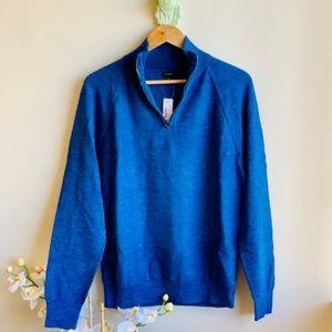 J.Crew   Rugged Cotton Half-Zip Sweater NWT